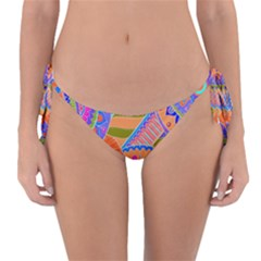 Pop Art Paisley Flowers Ornaments Multicolored 3 Reversible Bikini Bottom