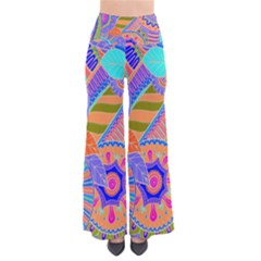 Pop Art Paisley Flowers Ornaments Multicolored 3 So Vintage Palazzo Pants