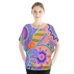Pop Art Paisley Flowers Ornaments Multicolored 3 Blouse