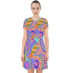 Pop Art Paisley Flowers Ornaments Multicolored 3 Adorable In Chiffon Dress