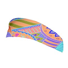 Pop Art Paisley Flowers Ornaments Multicolored 3 Stretchable Headband