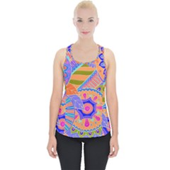 Pop Art Paisley Flowers Ornaments Multicolored 3 Piece Up Tank Top