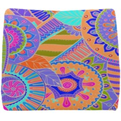 Pop Art Paisley Flowers Ornaments Multicolored 3 Seat Cushion