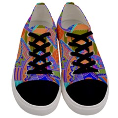 Pop Art Paisley Flowers Ornaments Multicolored 3 Men s Low Top Canvas Sneakers