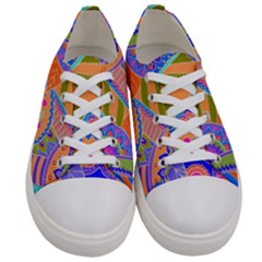 Pop Art Paisley Flowers Ornaments Multicolored 3 Women s Low Top Canvas Sneakers