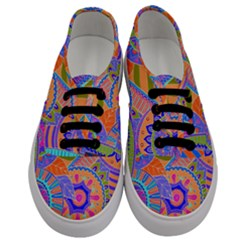 Pop Art Paisley Flowers Ornaments Multicolored 3 Men s Classic Low Top Sneakers