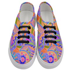Pop Art Paisley Flowers Ornaments Multicolored 3 Women s Classic Low Top Sneakers