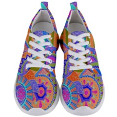 Pop Art Paisley Flowers Ornaments Multicolored 3 Men s Lightweight Sports Shoes