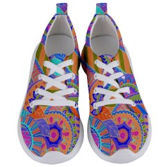 Pop Art Paisley Flowers Ornaments Multicolored 3 Women s Lightweight Sports Shoes