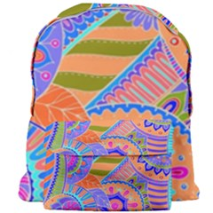 Pop Art Paisley Flowers Ornaments Multicolored 3 Giant Full Print Backpack