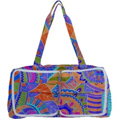 Pop Art Paisley Flowers Ornaments Multicolored 3 Multi Function Bag