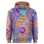 Pop Art Paisley Flowers Ornaments Multicolored 3 Men s Overhead Hoodie
