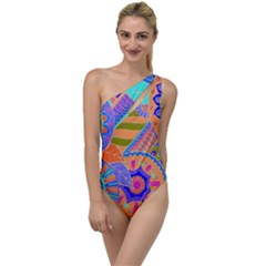 Pop Art Paisley Flowers Ornaments Multicolored 3 To One Side Swimsuit