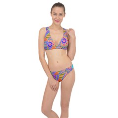 Pop Art Paisley Flowers Ornaments Multicolored 3 Classic Banded Bikini Set