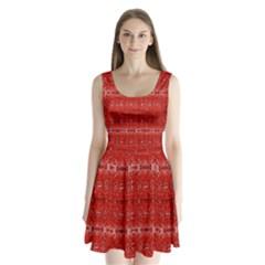 Red Lace Design Created By Flipstylez Designs Split Back Mini Dress