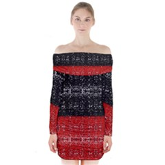 Red And Black Lace In Layers Created By Flipstylez Designs Long Sleeve Off Shoulder Dress
