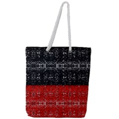 Red And Black Lace In Layers Created By Flipstylez Designs Full Print Rope Handle Tote (large)