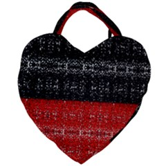 Red And Black Lace In Layers Created By Flipstylez Designs Giant Heart Shaped Tote by flipstylezdes