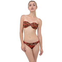 Red Triangles Zig Zags Many Layers Created By Flipstylezdesigns Classic Bandeau Bikini Set