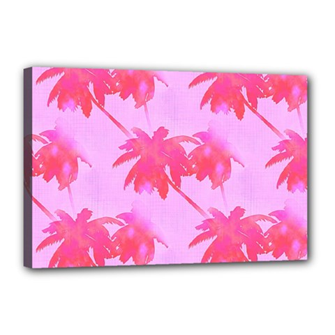 Palm Trees Pink Paradise Canvas 18  X 12