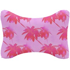 Palm Trees Pink Paradise Seat Head Rest Cushion by CrypticFragmentsColors