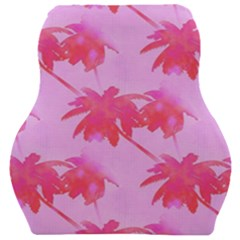 Palm Trees Pink Paradise Car Seat Velour Cushion  by CrypticFragmentsColors