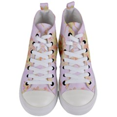 Palm Trees Tropical Summer Heat Women s Mid Top Canvas Sneakers