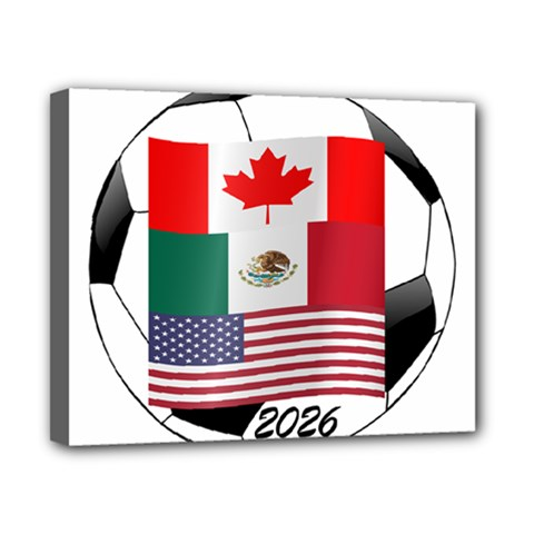 United Football Championship Hosting 2026 Soccer Ball Logo Canada Mexico Usa Canvas 10  X 8