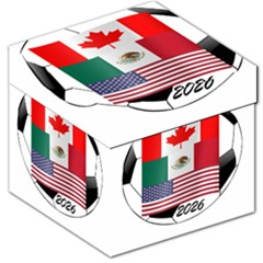 United Football Championship Hosting 2026 Soccer Ball Logo Canada Mexico Usa Storage Stool 12