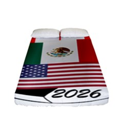 United Football Championship Hosting 2026 Soccer Ball Logo Canada Mexico Usa Fitted Sheet (full/ Double Size) by yoursparklingshop