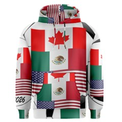 United Football Championship Hosting 2026 Soccer Ball Logo Canada Mexico Usa Men s Pullover Hoodie