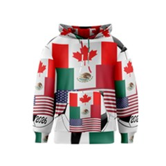United Football Championship Hosting 2026 Soccer Ball Logo Canada Mexico Usa Kids  Pullover Hoodie