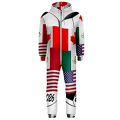 United Football Championship Hosting 2026 Soccer Ball Logo Canada Mexico Usa Hooded Jumpsuit (men)