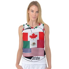 United Football Championship Hosting 2026 Soccer Ball Logo Canada Mexico Usa Women s Basketball Tank Top