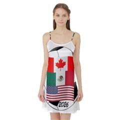 United Football Championship Hosting 2026 Soccer Ball Logo Canada Mexico Usa Satin Night Slip