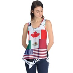 United Football Championship Hosting 2026 Soccer Ball Logo Canada Mexico Usa Sleeveless Tunic