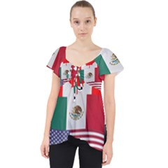 United Football Championship Hosting 2026 Soccer Ball Logo Canada Mexico Usa Lace Front Dolly Top