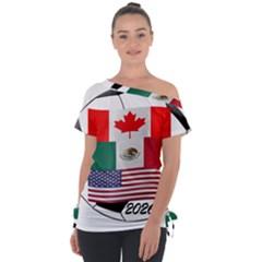 United Football Championship Hosting 2026 Soccer Ball Logo Canada Mexico Usa Tie Up Tee