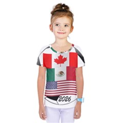 United Football Championship Hosting 2026 Soccer Ball Logo Canada Mexico Usa Kids  One Piece Tee