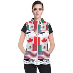 United Football Championship Hosting 2026 Soccer Ball Logo Canada Mexico Usa Women s Puffer Vest
