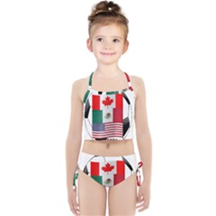 United Football Championship Hosting 2026 Soccer Ball Logo Canada Mexico Usa Girls  Tankini Swimsuit