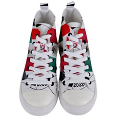 United Football Championship Hosting 2026 Soccer Ball Logo Canada Mexico Usa Women s Mid Top Canvas Sneakers