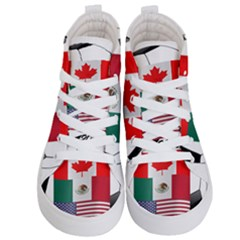 United Football Championship Hosting 2026 Soccer Ball Logo Canada Mexico Usa Kid s Hi Top Skate Sneakers