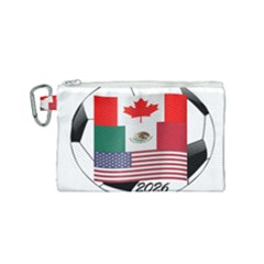 United Football Championship Hosting 2026 Soccer Ball Logo Canada Mexico Usa Canvas Cosmetic Bag (small)