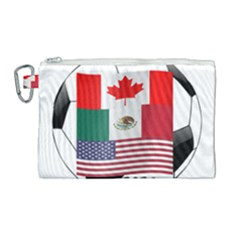 United Football Championship Hosting 2026 Soccer Ball Logo Canada Mexico Usa Canvas Cosmetic Bag (large)