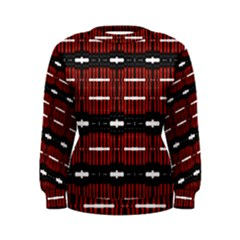 A Unique Red And Black Design Pattern By Kiekie Strickland Women s Sweatshirt