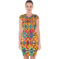 Colorful Shapes                                 Capsleeve Drawstring Dress