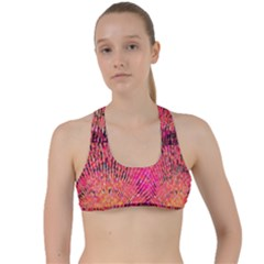 New Wild Color Blast Purple And Pink Explosion Created By Flipstylez Designs Criss Cross Racerback Sports Bra