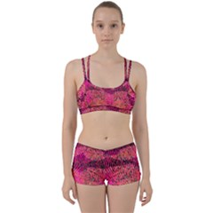 New Wild Color Blast Purple And Pink Explosion Created By Flipstylez Designs Women s Sports Set