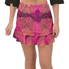 New Wild Color Blast Purple And Pink Explosion Created By Flipstylez Designs Fishtail Mini Chiffon Skirt